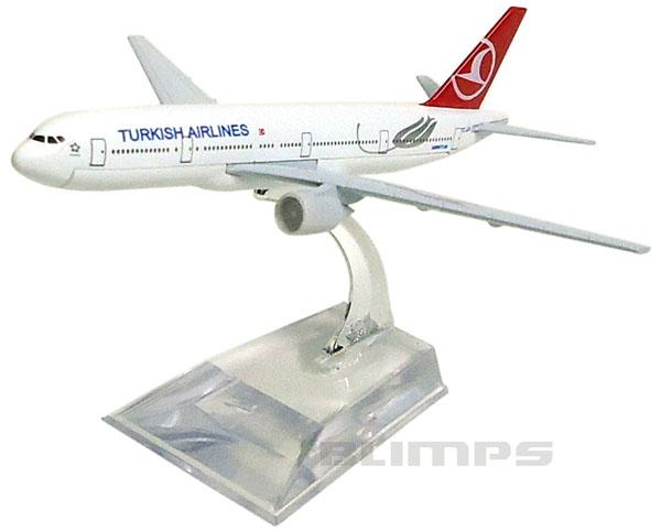 Miniatura Boeing 777 Turkish Airlines - 16 cm  - BLIMPS COMÉRCIO ELETRÔNICO