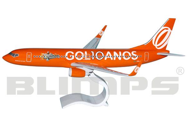 Maquete Boeing 737-800 GOL - 38 cm - pintura 10 anos  - BLIMPS COMÉRCIO ELETRÔNICO