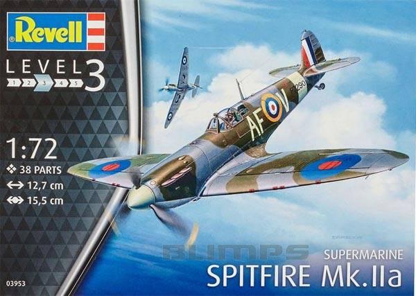 Supermarine Spitfire Mk.IIa - 1/72 - Revell 03953  - BLIMPS COMÉRCIO ELETRÔNICO