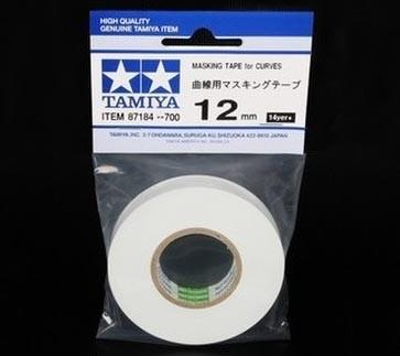 Fita adesiva para curvas (Masking Tape) 12 mm - Tamiya 87184  - BLIMPS COMÉRCIO ELETRÔNICO