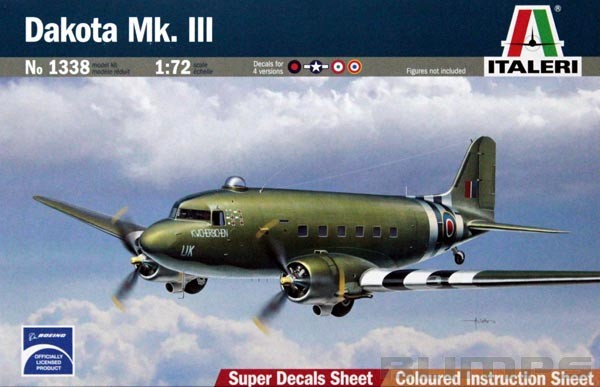 Douglas DC-3 Dakota Mk.III - 1/72 - Italeri 1338  - BLIMPS COMÉRCIO ELETRÔNICO