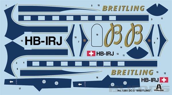 DC-3 Breitling - 1/72 - Italeri 1393  - BLIMPS COMÉRCIO ELETRÔNICO