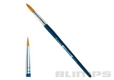 Pincel de cerda sintética arredondada 00 - Italeri 52202  - BLIMPS COMÉRCIO ELETRÔNICO