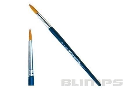 Pincel de cerda sintética arredondada 1 - Italeri 52204  - BLIMPS COMÉRCIO ELETRÔNICO