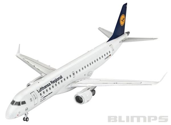Embraer 190 Lufthansa - 1/144 - Revell 03937  - BLIMPS COMÉRCIO ELETRÔNICO