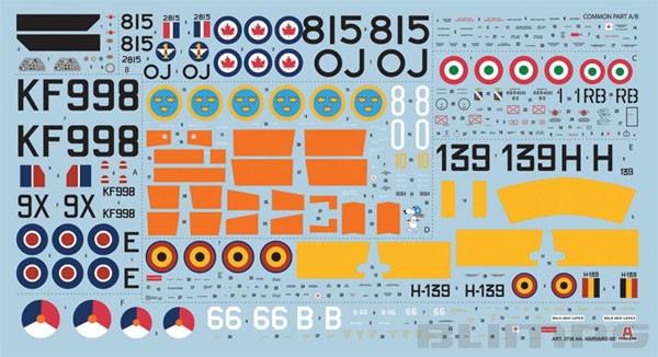 Harvard Mk.IIa (T-6 na Commonwealth) - 1/48 - Italeri 2736  - BLIMPS COMÉRCIO ELETRÔNICO