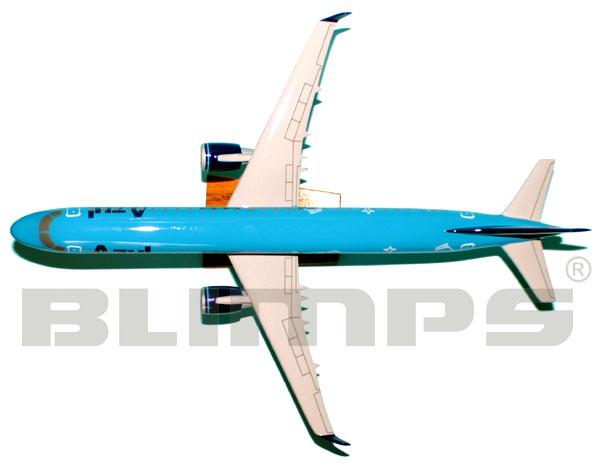 Maquete Embraer 195 Azul Viagens - 48 cm  - BLIMPS COMÉRCIO ELETRÔNICO