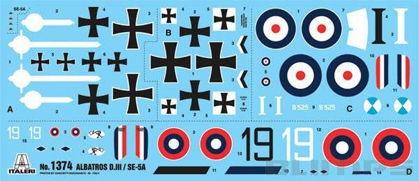 S.E. 5a e Albatros D.III - 1/72 - Italeri 1374  - BLIMPS COMÉRCIO ELETRÔNICO
