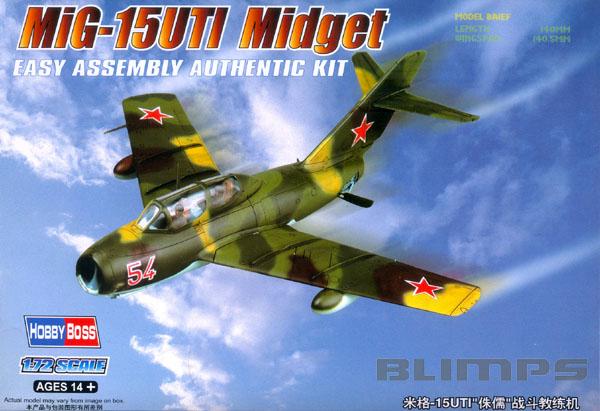 Mikoyan-Gurevich MIG-15UTI Midget - 1/72 - HobbyBoss 80262  - BLIMPS COMÉRCIO ELETRÔNICO