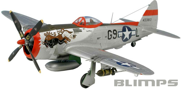 Republic P-47D-30 Thunderbolt - 1/72 - Revell 04155  - BLIMPS COMÉRCIO ELETRÔNICO