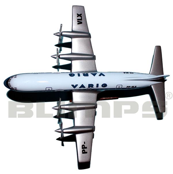 Maquete Lockheed L-188 Electra II Varig - 32 cm  - BLIMPS COMÉRCIO ELETRÔNICO