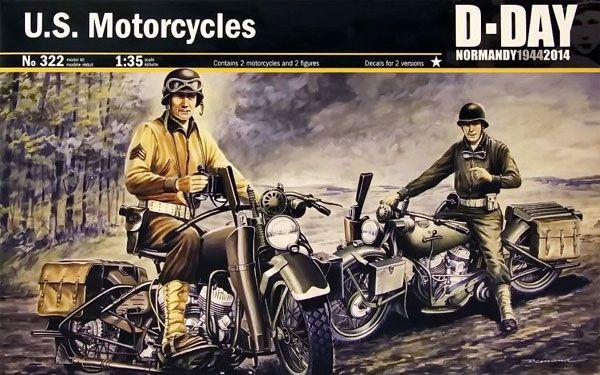 2 Motocicletas Harley Davidson - Dia D - 1/35 - Italeri 322  - BLIMPS COMÉRCIO ELETRÔNICO
