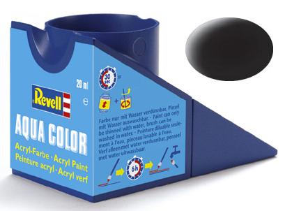 Tinta Acrílica Revell Aqua Color Preto Brilhante - Revell 36107  - BLIMPS COMÉRCIO ELETRÔNICO