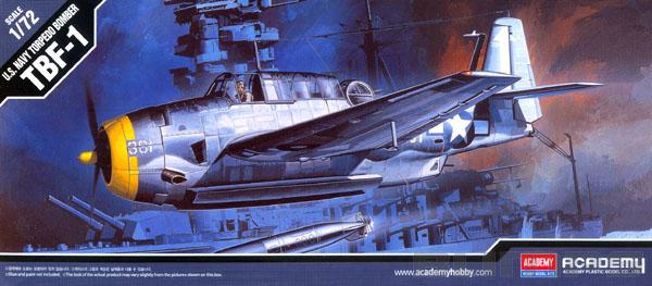 TBF-1 Avenger - 1/72 - Academy 12452  - BLIMPS COMÉRCIO ELETRÔNICO