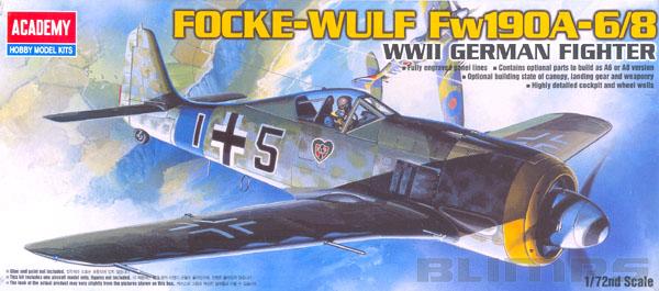 Focke-Wulf Fw190A-6/8 - 1/72 - Academy 12480  - BLIMPS COMÉRCIO ELETRÔNICO