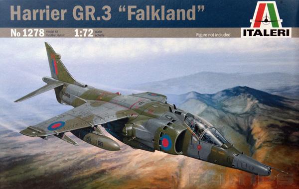 Harrier GR.3 ´Falkland´ - 1/72 - Italeri 1278  - BLIMPS COMÉRCIO ELETRÔNICO