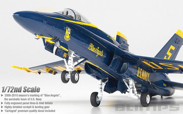 F/A-18A Hornet Blue Angels - 1/72 - Academy 12424  - BLIMPS COMÉRCIO ELETRÔNICO