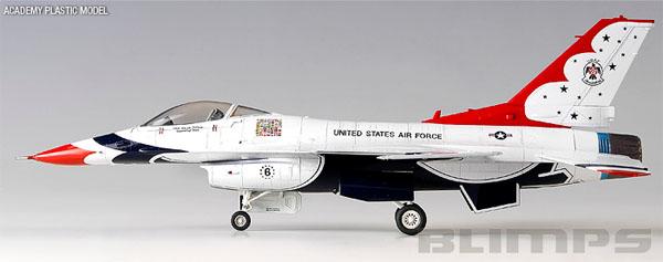 F-16C Thunderbirds - 1/72 - Academy 12429  - BLIMPS COMÉRCIO ELETRÔNICO