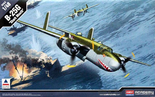 B-25G ´Shark Mouth´ - 1/48 - Academy 12290  - BLIMPS COMÉRCIO ELETRÔNICO
