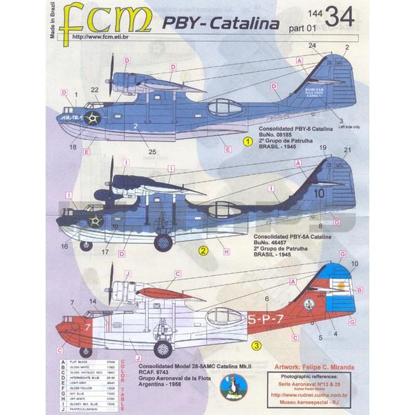 Decalque Catalina da FAB 1/144 - FCM 144-034  - BLIMPS COMÉRCIO ELETRÔNICO