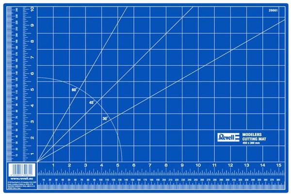 Placa de corte autorreparável - 450 x 300 mm - Revell 39061  - BLIMPS COMÉRCIO ELETRÔNICO
