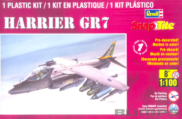 SnapTite Harrier GR7 - 1/100 - Revell 85-1372  - BLIMPS COMÉRCIO ELETRÔNICO