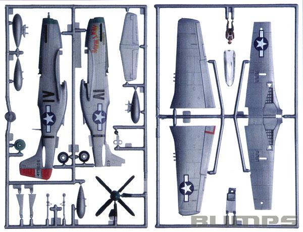 SnapTite P-51D Mustang - 1/72 - Revell 85-1374  - BLIMPS COMÉRCIO ELETRÔNICO