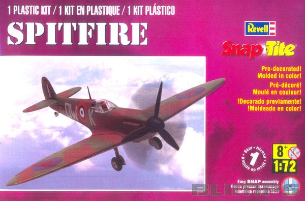 SnapTite Spitfire - 1/72 - Revell 85-1375  - BLIMPS COMÉRCIO ELETRÔNICO