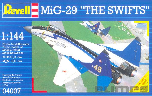 """MiG-29 """"The Swifts"""" - 1/144 - Revell 04007  - BLIMPS COMÉRCIO ELETRÔNICO"""