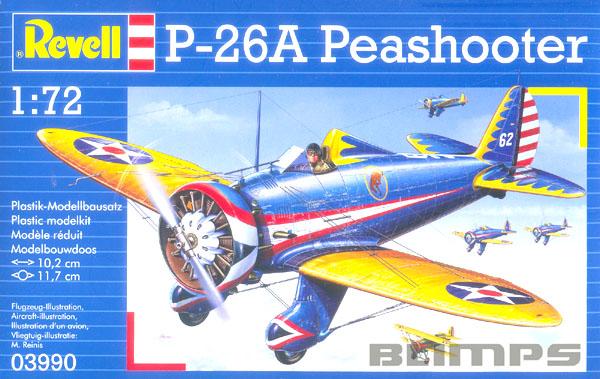 P-26A Peashooter - 1/72 - Revell 03990  - BLIMPS COMÉRCIO ELETRÔNICO