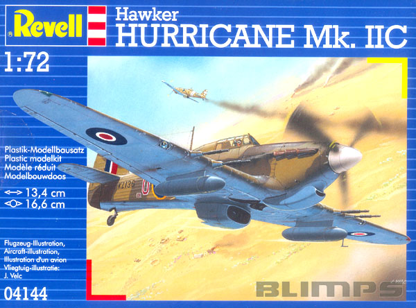 Hawker Hurricane Mk.IIC - 1/72 - Revell 04144  - BLIMPS COMÉRCIO ELETRÔNICO