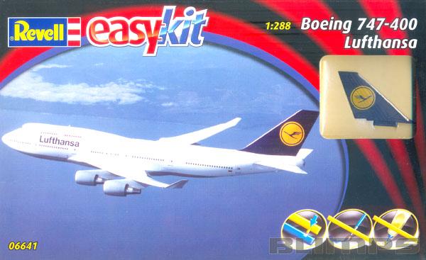 Easykit Boeing 747-400 Lufthansa - 1/288 - Revell 06641  - BLIMPS COMÉRCIO ELETRÔNICO