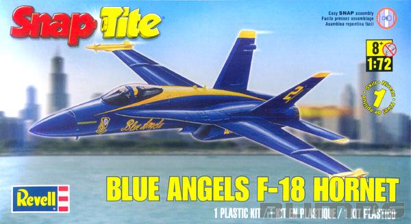 SnapTite Blue Angels F-18 Hornet - 1/72 - Revell 85-1185  - BLIMPS COMÉRCIO ELETRÔNICO