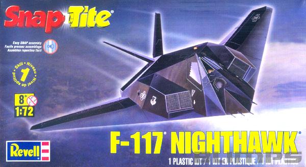 SnapTite F-117 Nighthawk - 1/72 - Revell 85-1182  - BLIMPS COMÉRCIO ELETRÔNICO