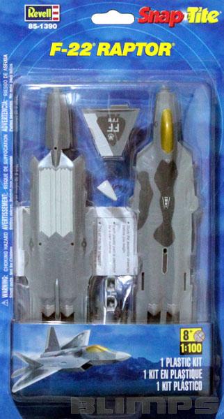 SnapTite F-22 Raptor - 1/100 - Revell 85-1390  - BLIMPS COMÉRCIO ELETRÔNICO