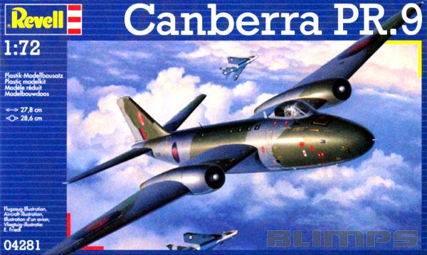 Canberra PR.9 - 1/72 - Revell 04281  - BLIMPS COMÉRCIO ELETRÔNICO