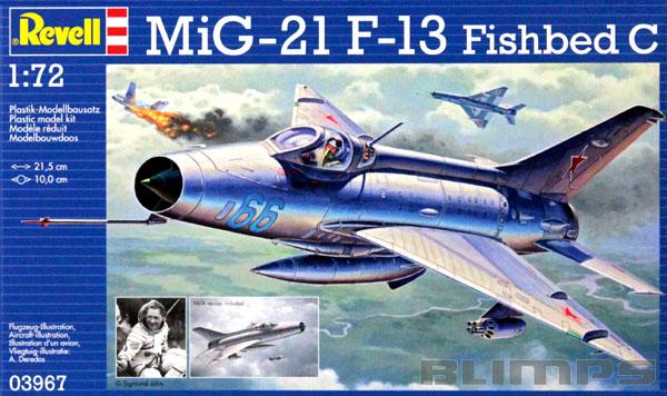 MiG-21 F-13 Fishbed C - 1/72 - Revell 03967  - BLIMPS COMÉRCIO ELETRÔNICO