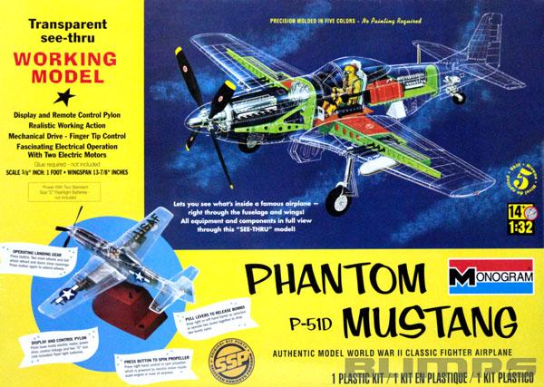 Phantom P-51D Mustang - 1/32 - Monogram 85-0067  - BLIMPS COMÉRCIO ELETRÔNICO