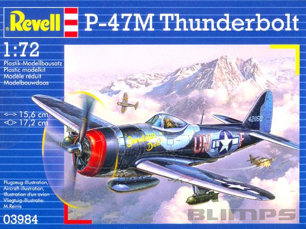 Republic P-47M Thunderbolt - 1/72 - Revell 03984  - BLIMPS COMÉRCIO ELETRÔNICO