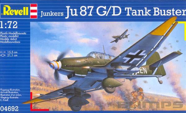 Junkers Ju-87 G/D Tank Buster - 1/72 - Revell 04692  - BLIMPS COMÉRCIO ELETRÔNICO