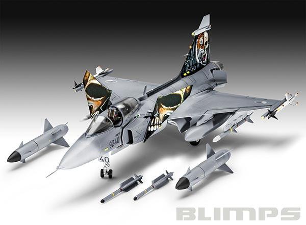 Model-Set Saab JAS-39C Gripen - 1/72 - Revell 64999  - BLIMPS COMÉRCIO ELETRÔNICO