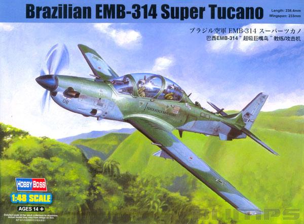 Embraer EMB-314 Super Tucano - 1/48 - HobbyBoss 81727  - BLIMPS COMÉRCIO ELETRÔNICO