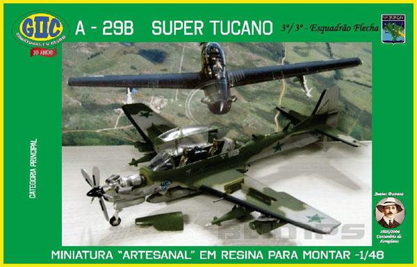 A-29B Super Tucano (Esquadrão Flecha da FAB) - 1/48 - GIIC  - BLIMPS COMÉRCIO ELETRÔNICO