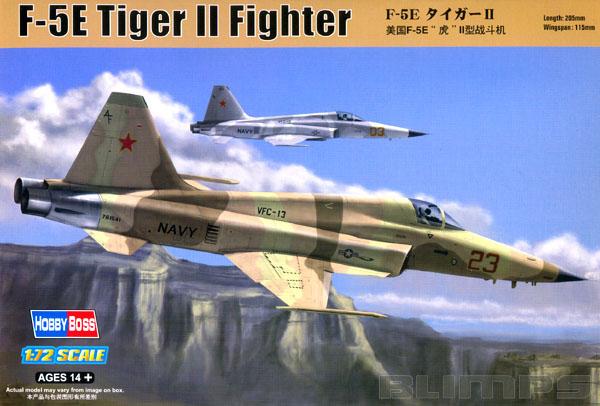 F-5E Tiger II Fighter - 1/72 - HobbyBoss 80207  - BLIMPS COMÉRCIO ELETRÔNICO