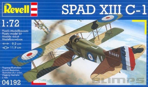 Spad XIII C-1 - 1/72 - Revell 04192  - BLIMPS COMÉRCIO ELETRÔNICO
