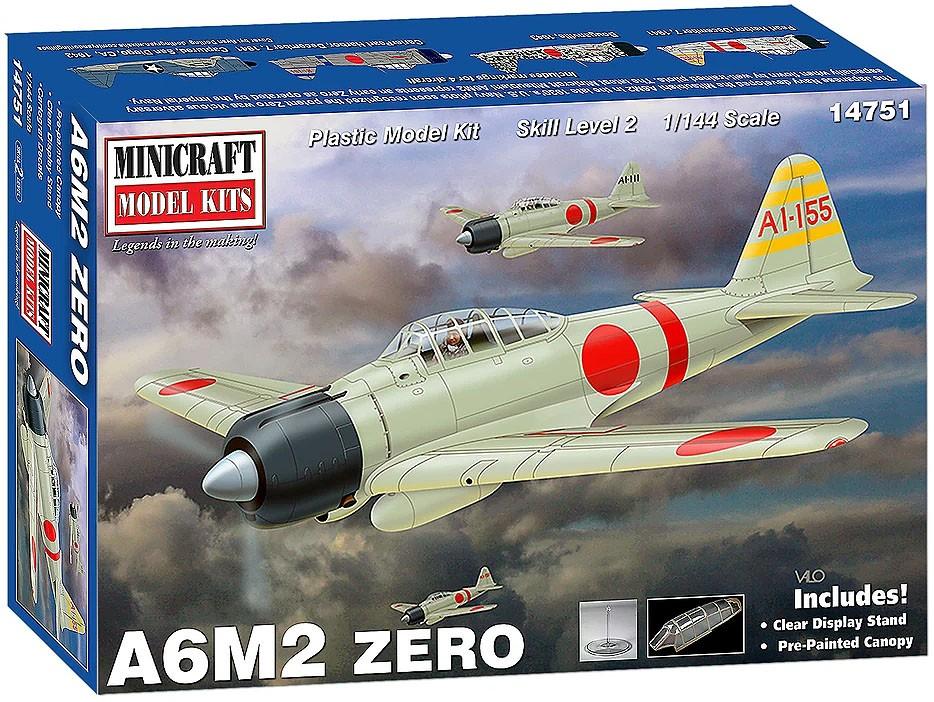 A6M2 Zero - 1/144 - Minicraft 14751  - BLIMPS COMÉRCIO ELETRÔNICO
