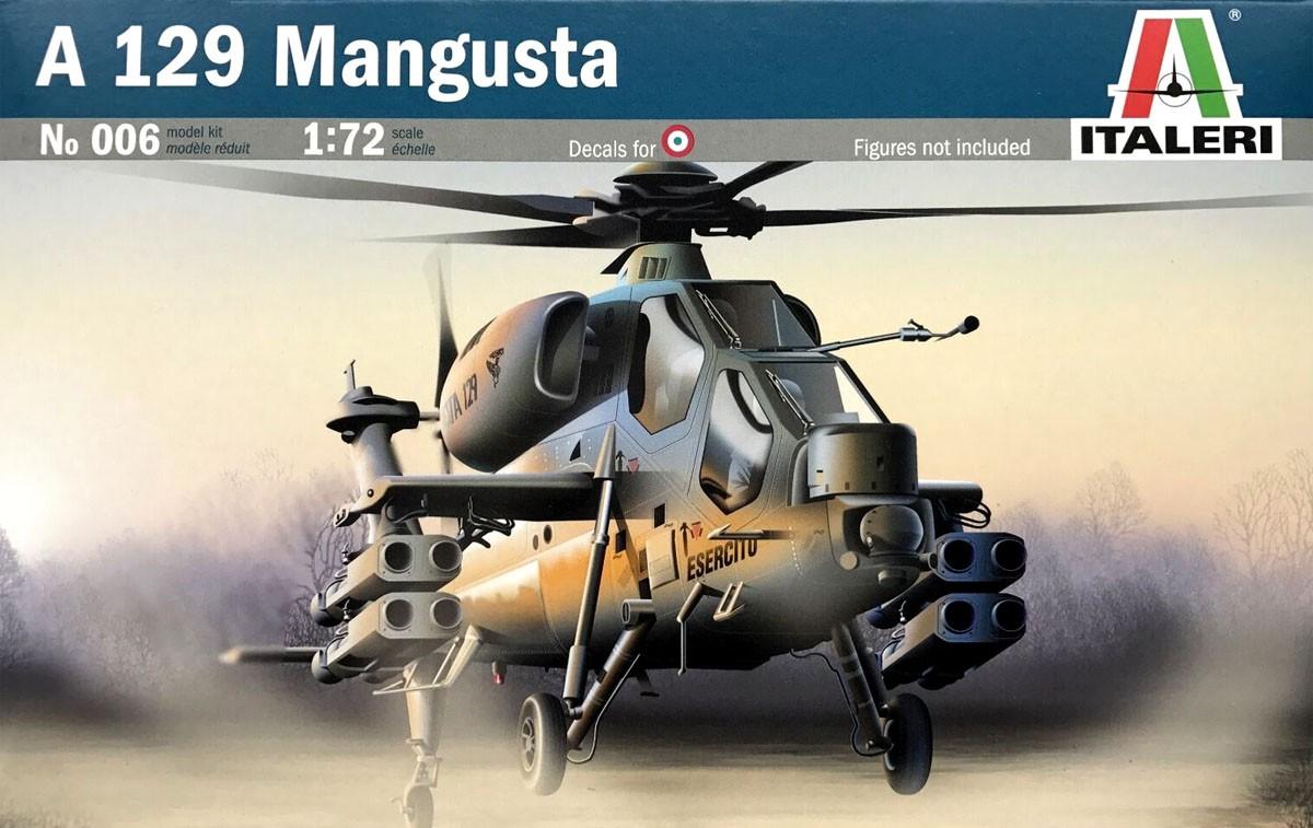 A-129 Mangusta - 1/72 - Italeri 006  - BLIMPS COMÉRCIO ELETRÔNICO