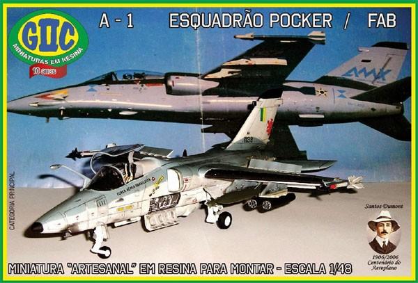 A-1 AMX (Esquadrão Pocker da FAB) - 1/48 - GIIC  - BLIMPS COMÉRCIO ELETRÔNICO