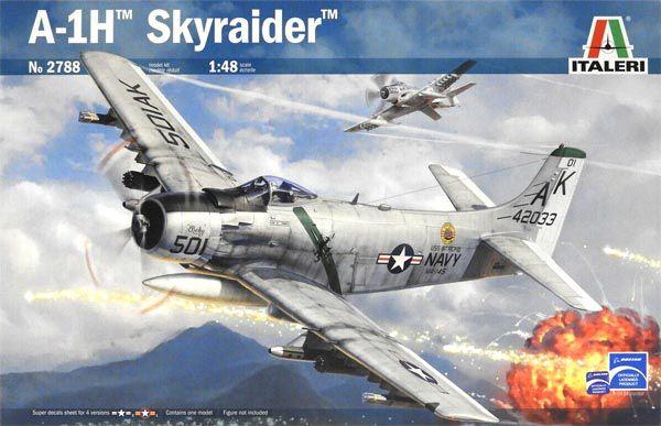 A-1H Skyraider - 1/48 - Italeri 2788  - BLIMPS COMÉRCIO ELETRÔNICO