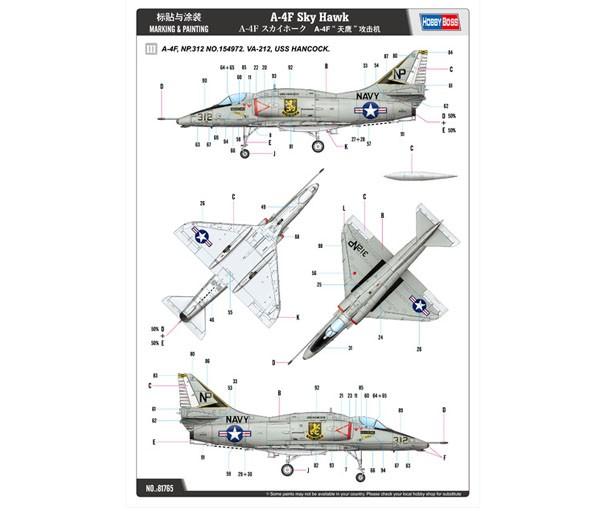 A-4F Sky Hawk - 1/48 - HobbyBoss 81765  - BLIMPS COMÉRCIO ELETRÔNICO